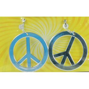 Peace Sign Clip On Earrings