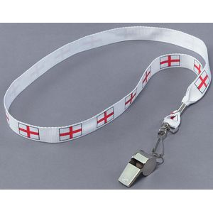 Metal Whistle On St George Cross Cord