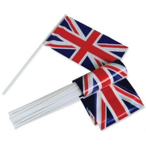 Union Jack Plastic Hand Waver Flag Approx  30cm x 17cm
