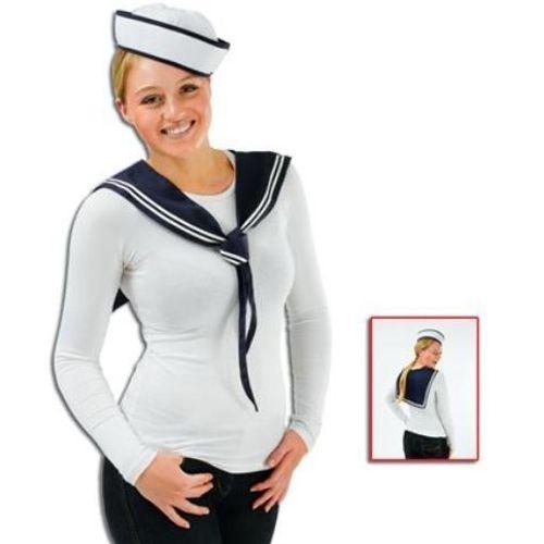 Sailor Girl Set Hat & Scarf Fancy Dress Costume Accessory