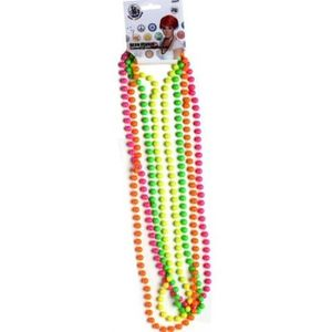 Neon Pearls Set Of 4 (Pink Yellow Green & Orange)