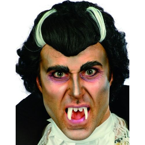 Fancy Dress And Halloween The Vampire Wig Black  With White Streaks Accessory