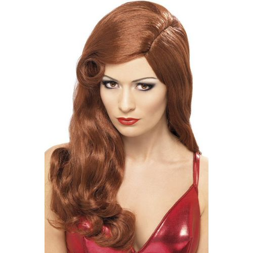 Jessica Rabbit Silver Screen Sensation  Long Red Fancy Dress Wig