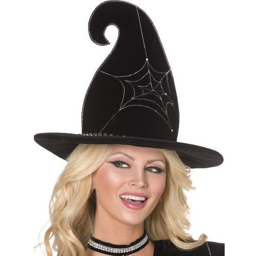 fancy dress and halloween Spider Web Witch Hat