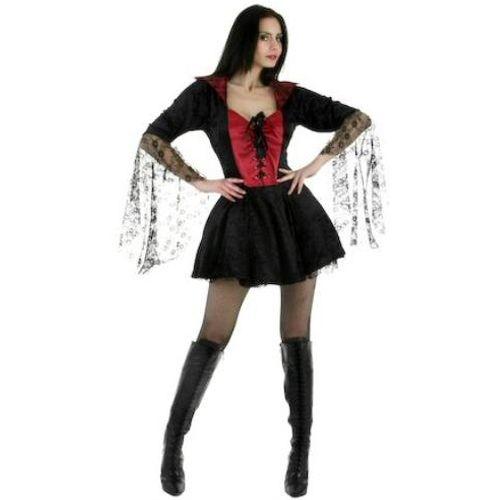 Sexy Fancy Dress And Halloween Costume Sexy Black Widow Dress Size 12-14