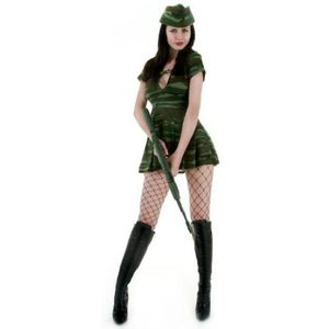 Sexy Army Girl Costume Size 8-10