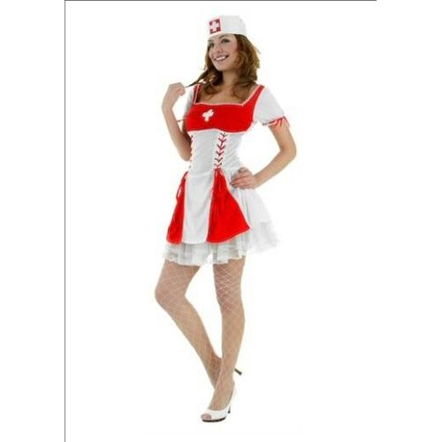 Sexy Nurse Fancy Dress Costume Hen Outfit Size M