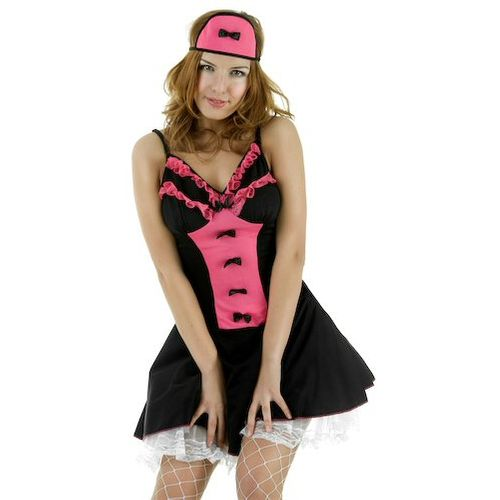 Sexy Fancy Dress Costume Naughty Maid Dress & Headpiece Size 16-18