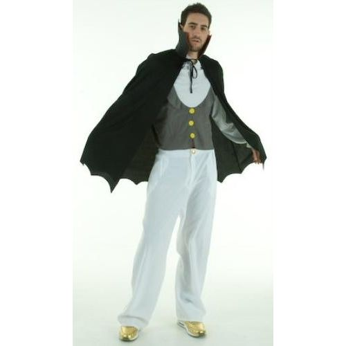 Fancy Dress And Halloween Costume Vampire Top & Cape Size M-L