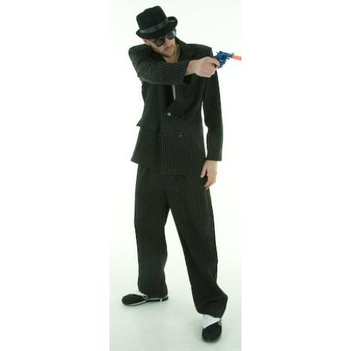 Fancy Dress Male Gangster Costume M-L