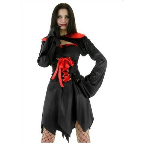Fancy Dress Sexy Vampiress Witch Halloween Costume S