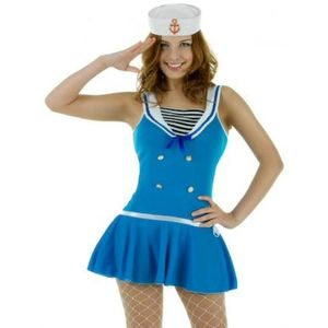 Sexy First Mate Sailor Costume Size 8-10