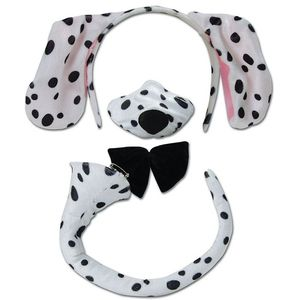 Dalmatian Dog Dress Up Costume Accessory Set