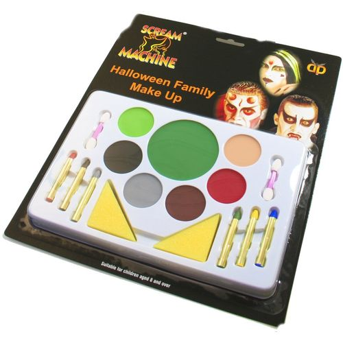 Halloween Family Make Up Kit Fancy Dress Face Paint Accessory