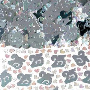 Number 25 Silver Foil Confetti