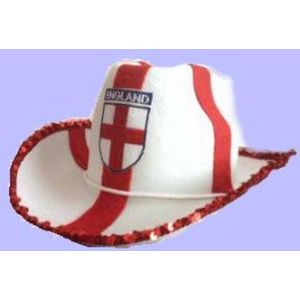 Cowboy Hat (England St George Cross Design)