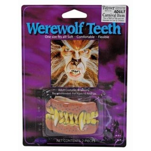 Werewolf Teeth Fancy Dress and Halloween Costume Accessory