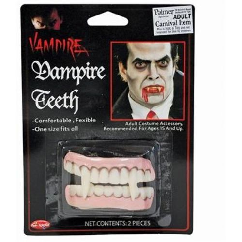 Vampire Teeth Fancy Dress and Halloween Costume Accessory