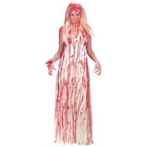 Carrie Prom Nightmare Zombie Costume & Wig Size 10-12