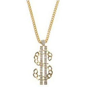 Dollar Sign Pendant With Gems