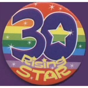 30 Rising Star Birthday Badge