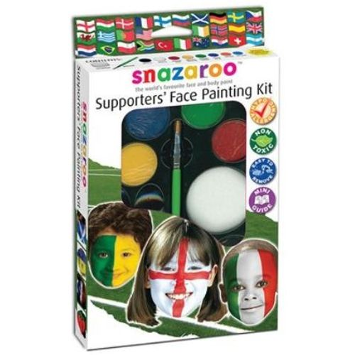 fancy dress World Cup 8 Colour Face Painting Kit With Brush & Sponge Applicator
