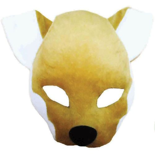 Fancy Dress Noisy Fox Vixen Animal Mask On Headband