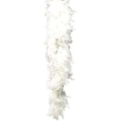 White Feather Boa Approx 200cm budget fancy dress accessory