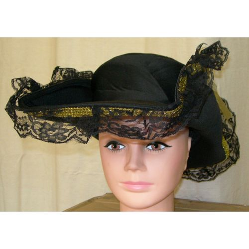 Fancy Dress Sexy  Black Pirate Hat Accessory