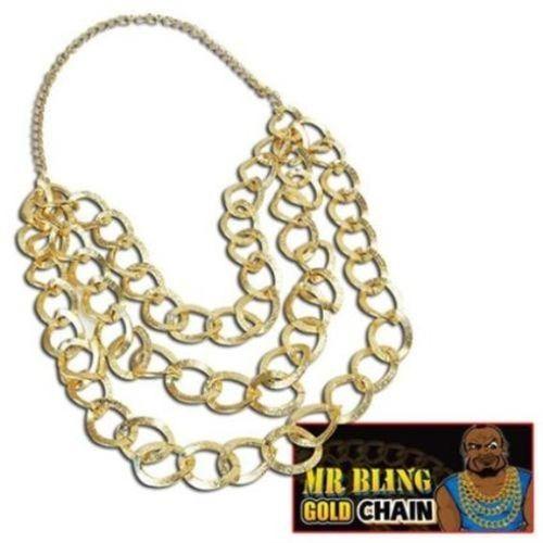 Fancy Dress Mr Bling  1980`s Gold Chain A team BA Baracus Mr T Accessory