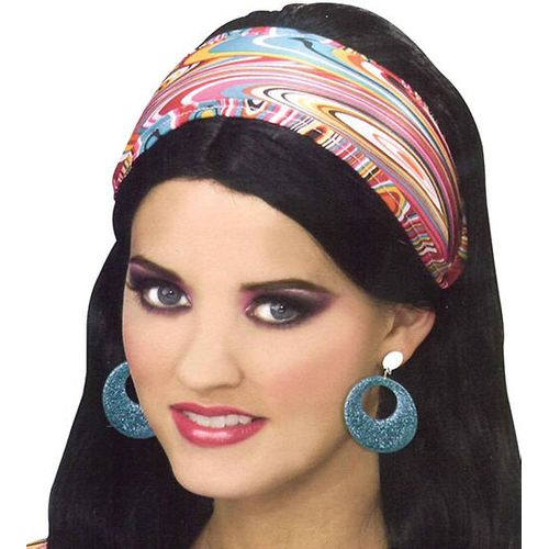 Fancy Dress Accessory Sixties Swirl Fabric Headband