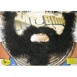 Mr T BA Baracus A Team 80s Bling Beard & Moustache Set