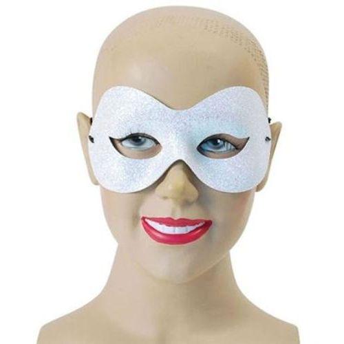 Fancy Dress Sparkle Glitter White Domino Masquerade Eye Mask Adult