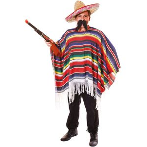 Mexican Poncho (Multi Coloured) Free Size