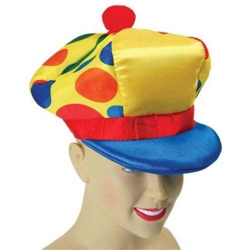Spotted Peaked Clown Hat Fancy Dress Accessory
