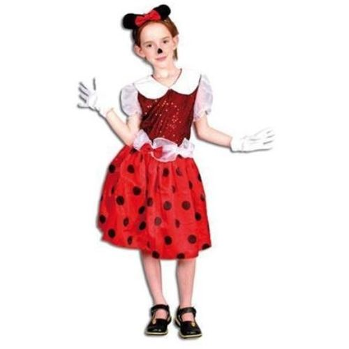 Childrens Minnie Mouse Style Fancy Dress Costume Age 5-7 Years