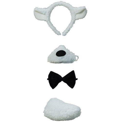 fancy dress costume accessory Lamb Set Noisy Nose Ears On Headband Bow Tie & Tail