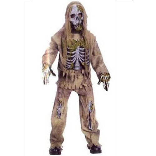 Childs Skeleton Zombie Halloween Fancy Dress Costume Age 10-12 Years