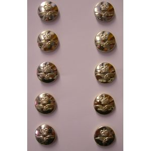 Silver Finish RAF Buttons Queens Crown 10 x 23mm
