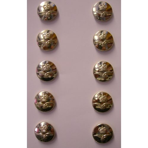 Fancy Dress Silver RAF Buttons QC 10 X 23MM