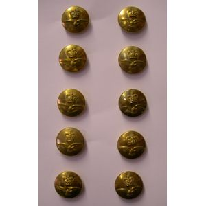Brass Finish RAF Buttons Queens Crown 10 x 23mm