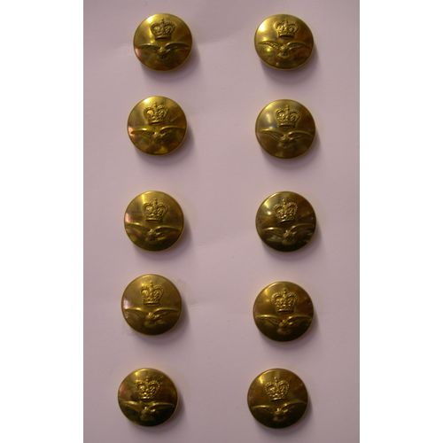 Fancy Dress Brass RAF Buttons QC 10 X 23MM