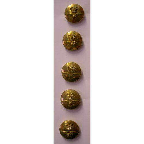 Fancy Dress Brass RAF Buttons 5 x 23MM