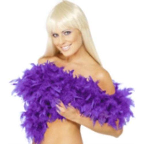 fancy dress dark purple Feather Boa 200cm