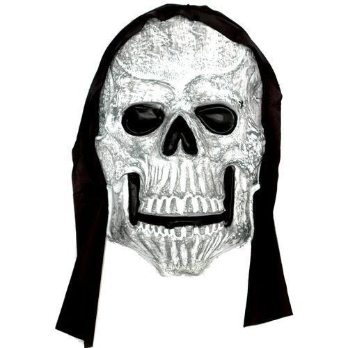 halloween party decoration Giant Hooded Skull Plaque