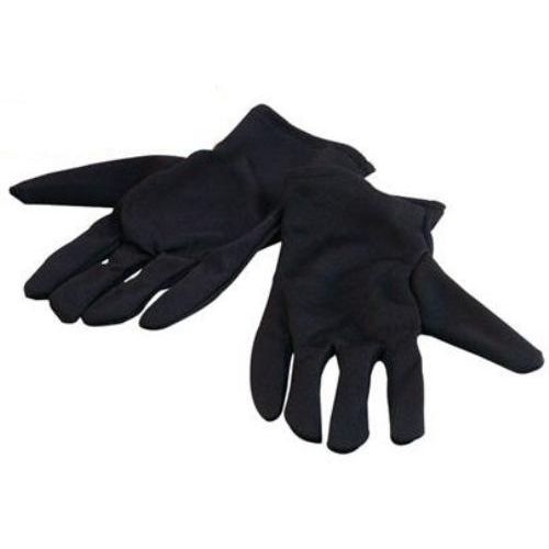 fancy dress black nylon gloves