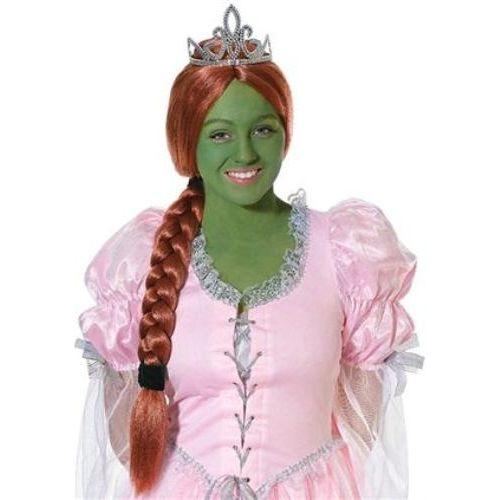 shrek princess fiona style fancy dress wig with tiara