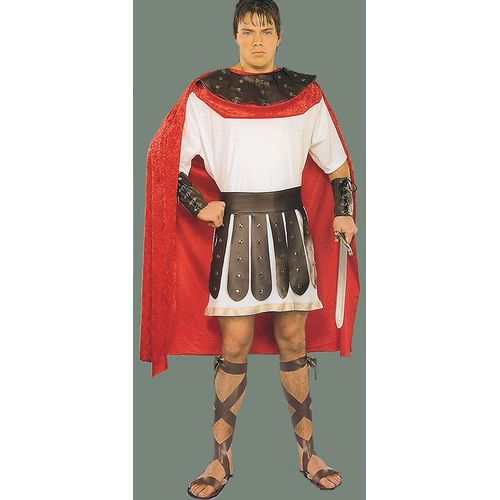 Fancy Dress Marc Anthony Gladiator Tunic Cape With Collar Armbamds And  Belt