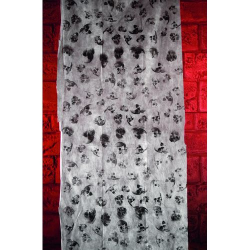 Halloween And Party White Display Cloth With Skull Print 3m x 75cm