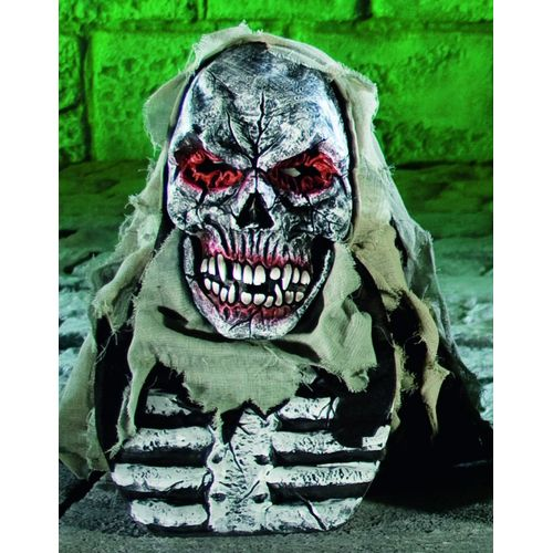 fancy dress and halloween Horror Hooded Overhead Skeleton Mask With Chest Piece